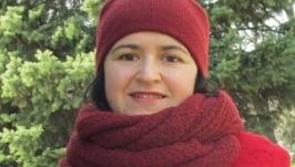 Комплект шапка и шарф Спелая вишня Шапка бини и снуд