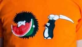 Смешная футболка ручной росписи KRTEK подарок мужчине