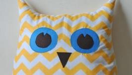Именная подушка совушка