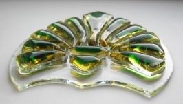 Декор из стекла орнамент, фьюзинг элемент, орнамент, украшение для дома