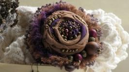 Комплект Виолетта. Брошь плюс серьги