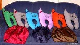Дорожная подушка-кот (сумочка в подарок)