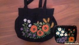Жіноча сумочка та косметичка в етностилі