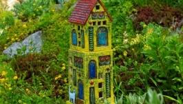 Домик - садовый декор