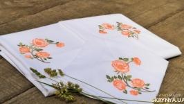 Постельное белье с вышивкой Винтажная роза