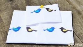 Постельное белье с вышивкой Птички
