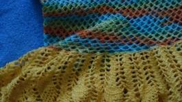 Летнее, пляжное платье, меланж, вязанное крючком