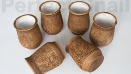 Набор стаканчиков 6 штук с трипольскими мотивами
