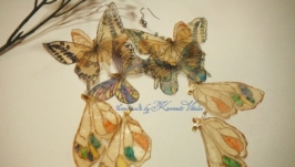 Сережки-метелики з органзи Невагомість
