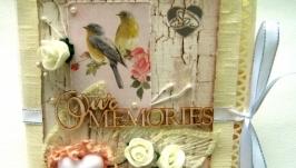 Свадебный конверт для диска Our memories