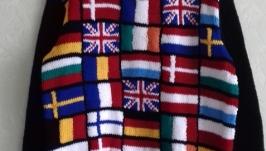 Чоловічий/жіночий светер, джемпер відображаючий прапори країн Євросоюзу