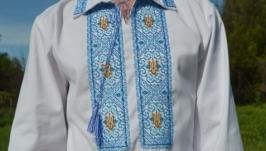 Мужская вышиванка вышита чешским бисером