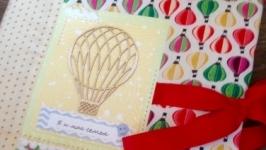 Яркий альбом для фото с воздушными шарами