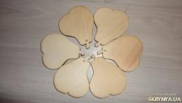 Деревянные игрушки Осенний сад - подвески (Яблоко, груша, листик на выбор)