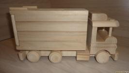 Камаз - деревянная игрушка. Машина - копилка. Машинка