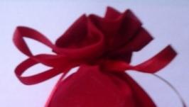 Мешочек для подарка-упаковка из ткани.