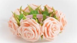 розы, украшение на пучек
