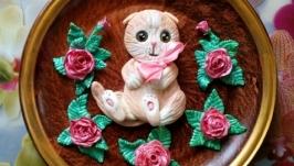 Тарелка с котенком