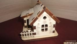 Декоративный домик из фанеры. Трёхмерная модель