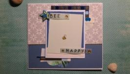 Открытка Bee Happy!