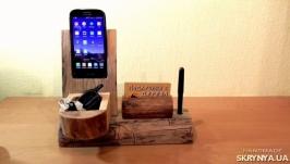 Брутальная подставка для мобильного телефона - органайзер