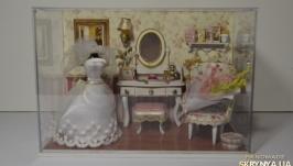 Свадебная комнатка (кукольная миниатюра).