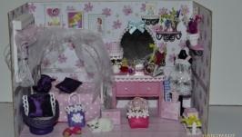 Комнатка (кукольная миниатюра).