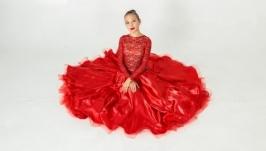 Платье для бальных танцев (стандарт) ′Red Splash′
