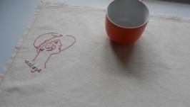 Полотенце с винтажной вышивкой