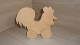 Петушок - игрушка из дерева
