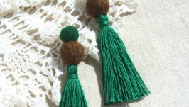 Сережки кутасики зелені