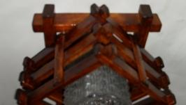 Светильник деревянный , потолочный, ручной работы
