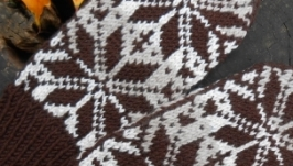 Варежки с жаккардовым орнаментом