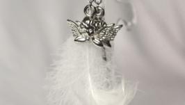 Серьги Перья ангела