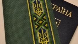 Обложка на паспорт ′Орнамент на зеленом фоне′