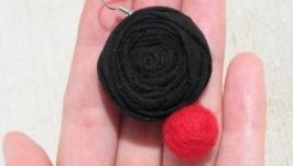 Сережки червоно-чорні