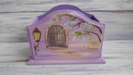 Подставка деревянная, ручная роспись масляными красками