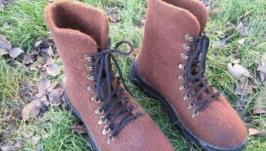 Обувь на заказ зимняя валяная обувь ботинки мужские