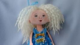 Текстильная кукла ручная работа