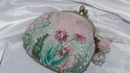 Валяный кошелечек ′Полевые цветы′