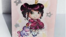 Карандашница Маленькая Принцеса с единорогом