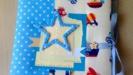 Блокнот Мамины заметки для мальчика с транспортом и звёздочками