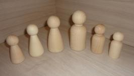 Семья. Куклы деревянные для творчества 6 штук