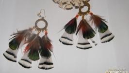 Серьги из перьев Махарани