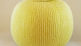Интерьерный вязаный пуф,вязаный шар.