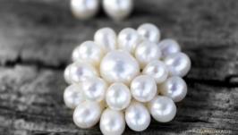 Брошь из натурального жемчуга Only Pearls