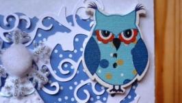 Зимова листівка ′Ялинка і сова′