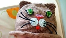 Летняя шляпка, шляпка для девочки, шляпка - котелок