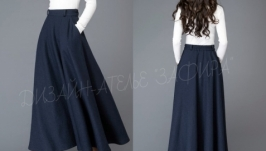 Шерстяная юбка в пол