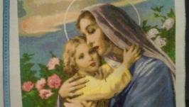 «Мадонна з Немовлям» Картина хрестиком на канві